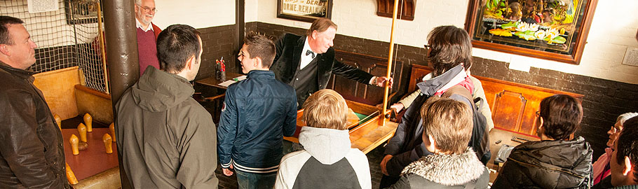 Traditional pub games explained in the Edwardian Bar