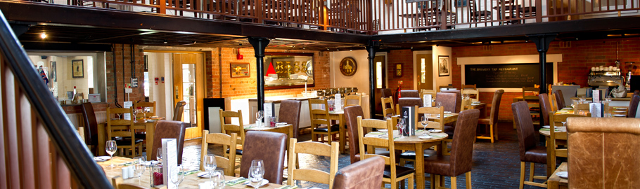 Book our Brewery Tap restaurant for that special meal