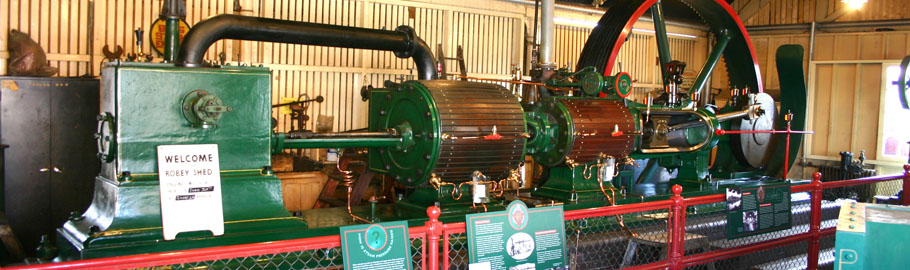 Our Robey Steam engine - one of hundred's of fascinating exhibits