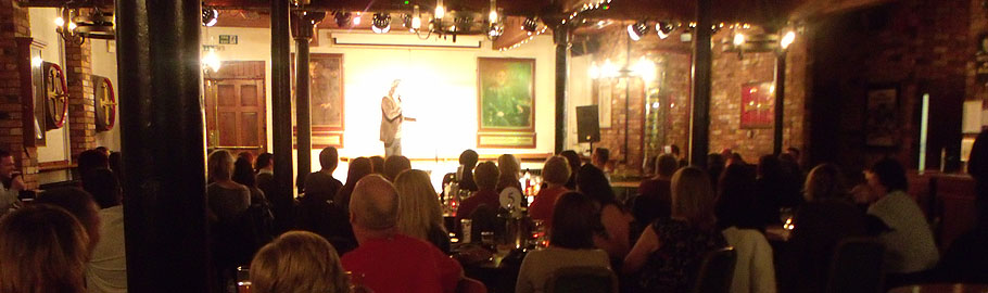 Each night four comedians and a compere will entertain you