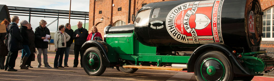 1920's Daimler bottle car used for promotional purposes